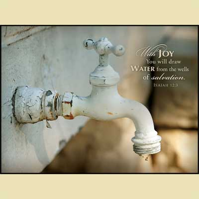 Old Faucet Mounted Print