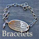Christian Bracelets, Cuffs, & Mobius with Scripture