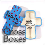 Personalized Ceramic Cross Box for Baby, First Communion and Confirmation