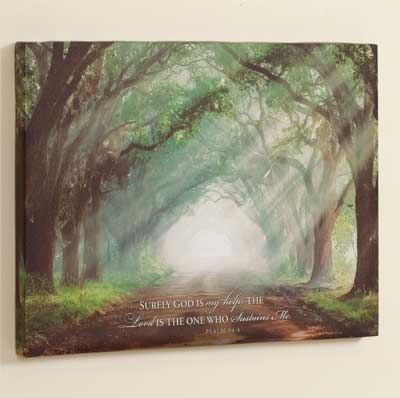 Evergreen Plantation Wrapped Canvas Print