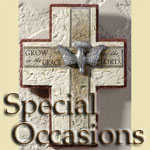 Special Occasion Crosses for baptism, first communion, confirmation, new babies