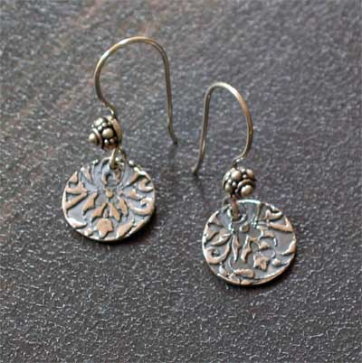 Sterling Silver Scripture Earrings - 2 Timothy 1:7