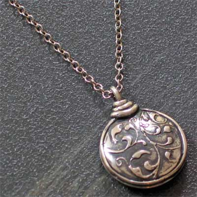 Sterling Silver Puff Medallion - Praise the Lord My Soul