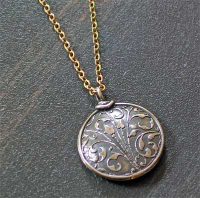 Sterling Silver Small Puff Medallion - Hebrews 11.1