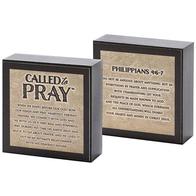 Desk Plaque/Shelf Sitter - Called to Pray
