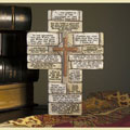 Stone Cross with Multi-Verse Scripture