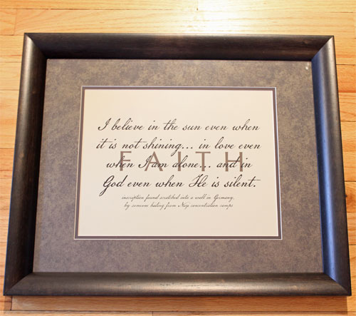 FAITH Matted Framed Christian Art