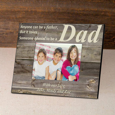 Personalized Father's Day Frame-Barnwood/Cream
