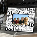 Personalized Dad-Father Frame - Black/White