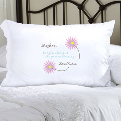 Personalized Pillow Case with Friend's Blessing