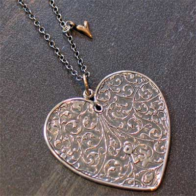 Sterling Silver Scripture Heart Necklace - Proverbs 4:20-23