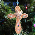 Peace Cross Christmas Ornament
