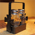 Wrought Iron Ladnar Salt & Pepper Shaker Set