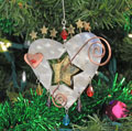 Starburst Heart Ornament