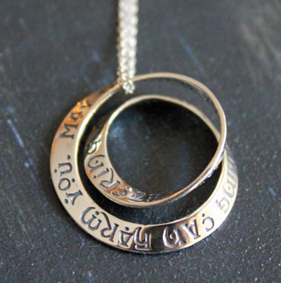 Irish Blessing - Double Mobius Necklace