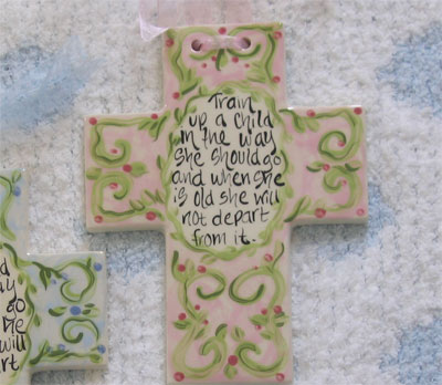 Train Up a Child Ceramic Wall Cross