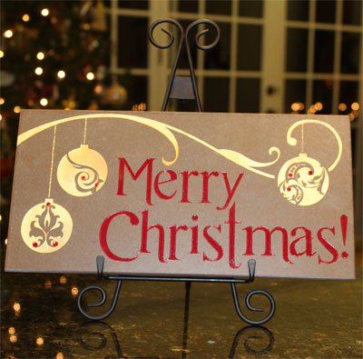 Merry Christmas - MasterStone w/Iron Easel