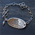 Sterling Silver Scripture Bracelet - Proverbs 3:5 Mini-Thumbnail