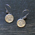 Sterling Silver Scripture Earrings - 1 John 4:4 Mini-Thumbnail