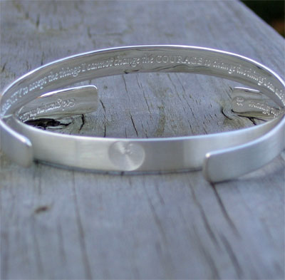 Serenity Prayer with Labyrinth Cuff