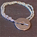 To be rich in love... Sterling Silver Toggle Bracelet