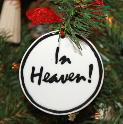 Handmade - Black & White Flat Ornament - In Heaven