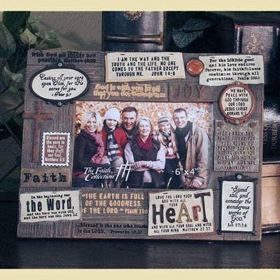 """Repurposed"" Photo Frame with Scripture"
