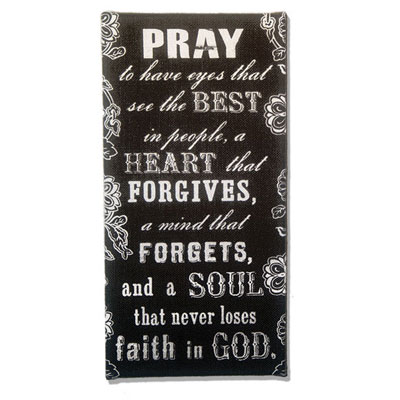 Pray to Have Eyes that See the Best… Burlap Wall Art