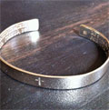 Joshua 1:9 Sterling Silver Christian Cuff Mini-Thumbnail