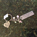 With God All Things... Key Chain with Charms