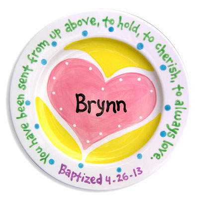 Personalized Plate - Heart