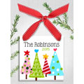 Personalized Christmas Ornament - Funky Trees