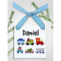 Toy Train Personalized Christmas Ornament