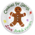 Personalized Cookie Plate for Santa - Gingerbread
