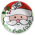 Personalized Cookie Plate for Santa - Santa Face