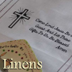 Embroidered Scripture Linens