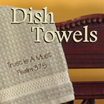 Scripture Dish Towels