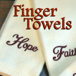 Scripture and Inspirational Finger Tip Towels