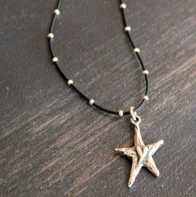 Mira - Star with Heart Sterling Silver Pendant
