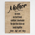 Personalized Mother Canvas Wall Sign