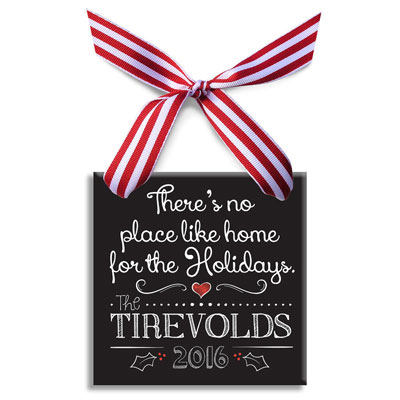 There is No Place Like Home - Personalized Christmas Ornament