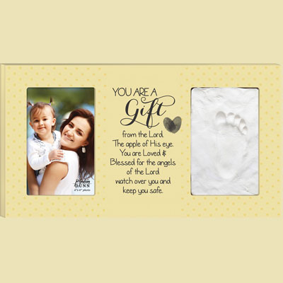 You Are a Gift Photo Frame with Baby Footprint Clay Kit