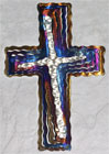 "16"" Spiral Cross - Handcrafted of Steel"