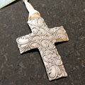 """Spirit Cross II"" Wall Ornament by Cynthia Webb"
