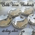 Bible Verse Sterling Silver Pendant