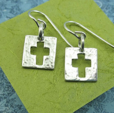Be Amazed by Grace Cross Sterling Earrings