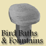 Memorial Water Fountains & Bird Baths