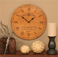 "As for Me and My House Stained 17"" Wall Clock"