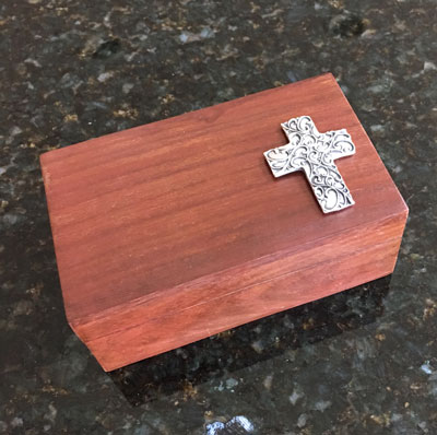 "Special Occasion Box with ""Spirit Cross II"" Ornament by Cynthia Webb"
