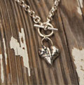 Broken, Mended and Filled… Sterling Silver Necklace
